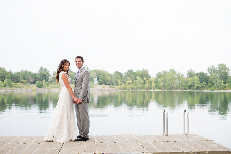 Bride and Groom Lakeside