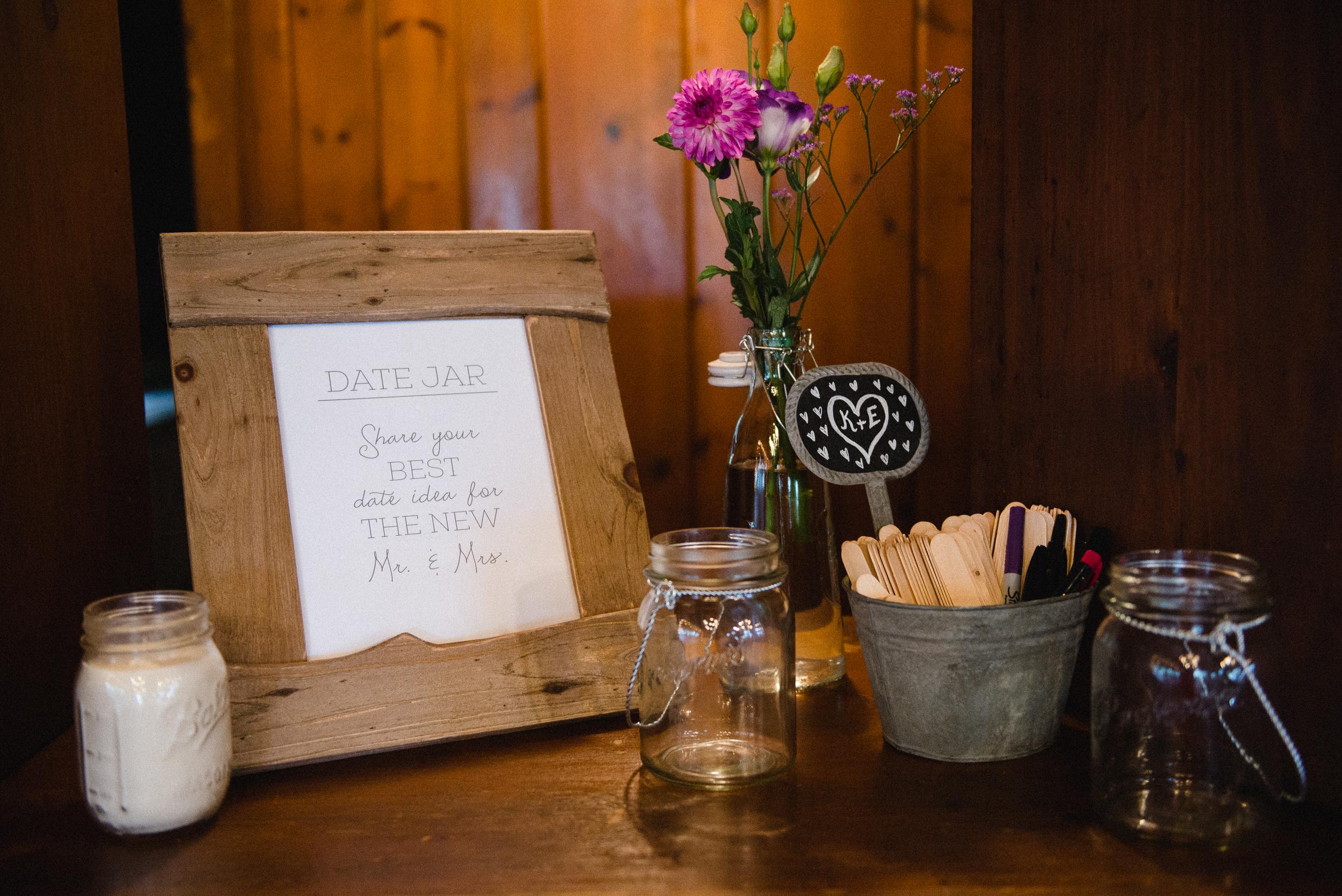 Date Jar Wedding Reception