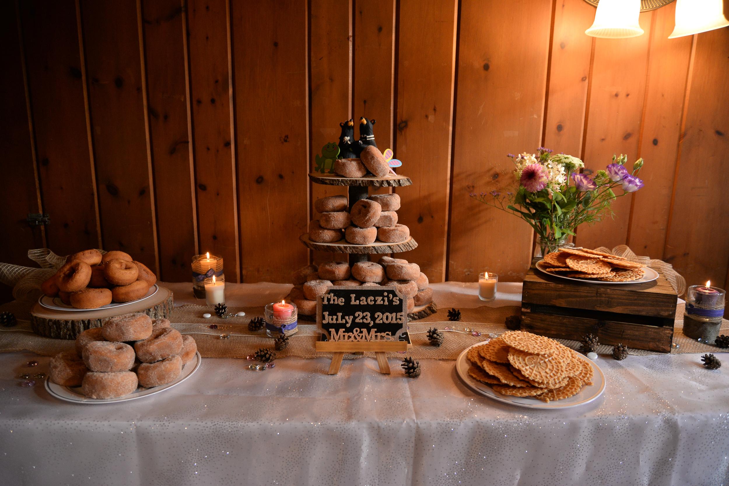 Wedding Reception Doughnut Tier