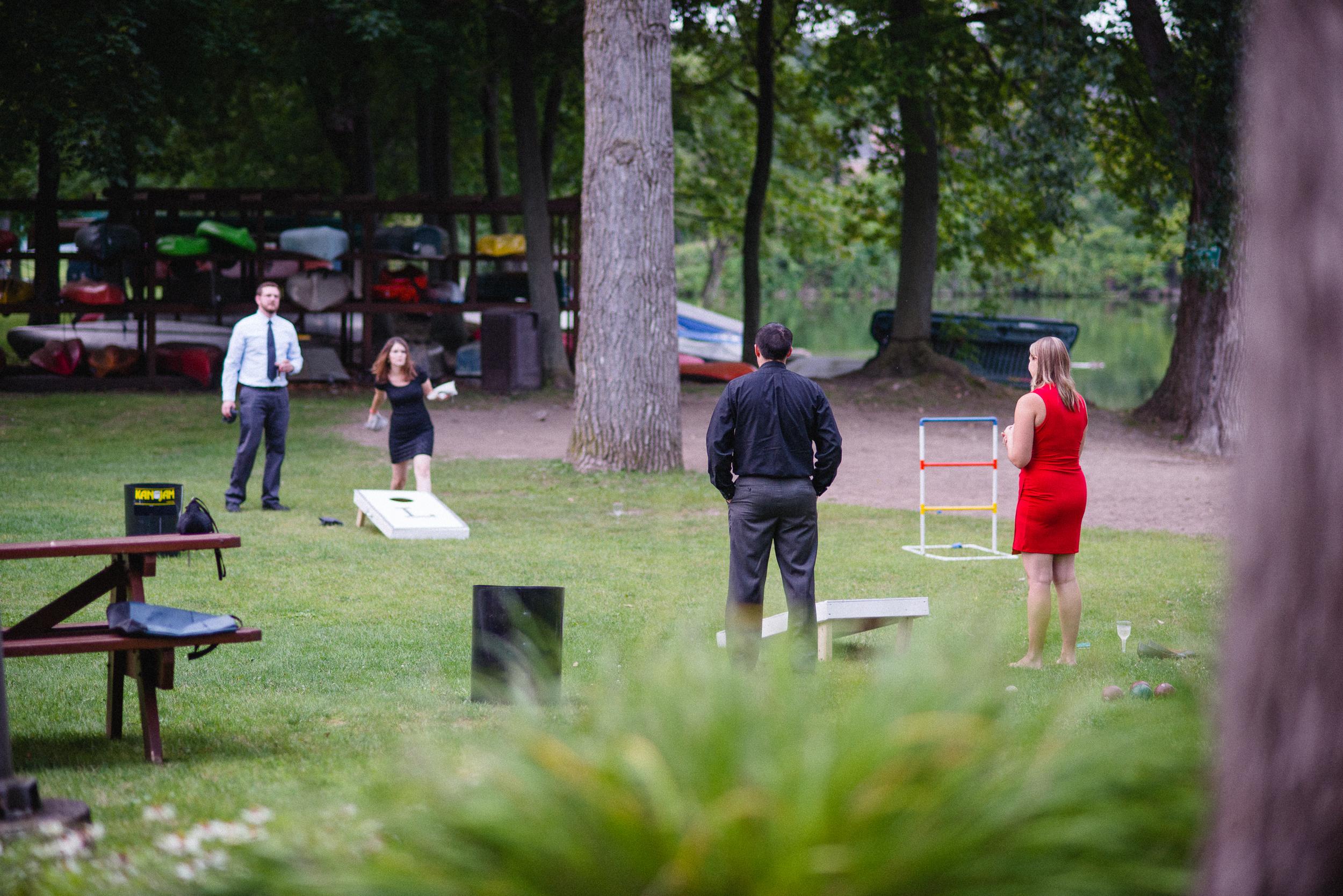 Outdoor Wedding Reception Games