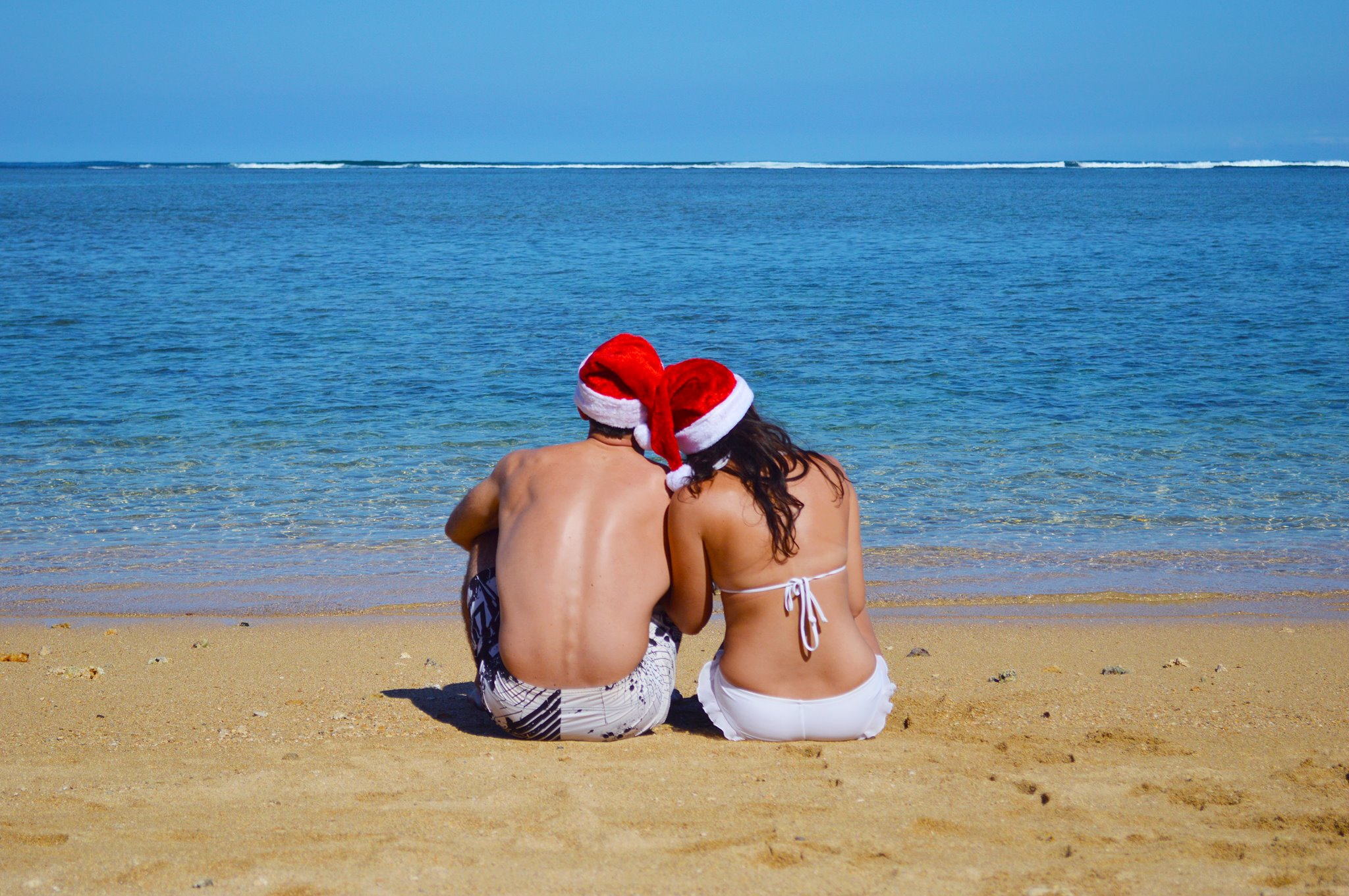 Santa Hats Christmas December in Hawaii