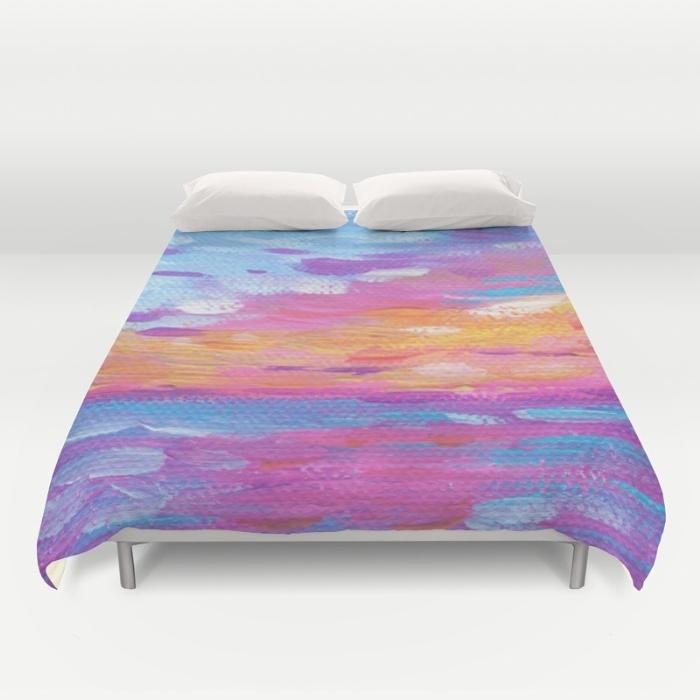 Hawaiian Neon Sunset Duvet Cover