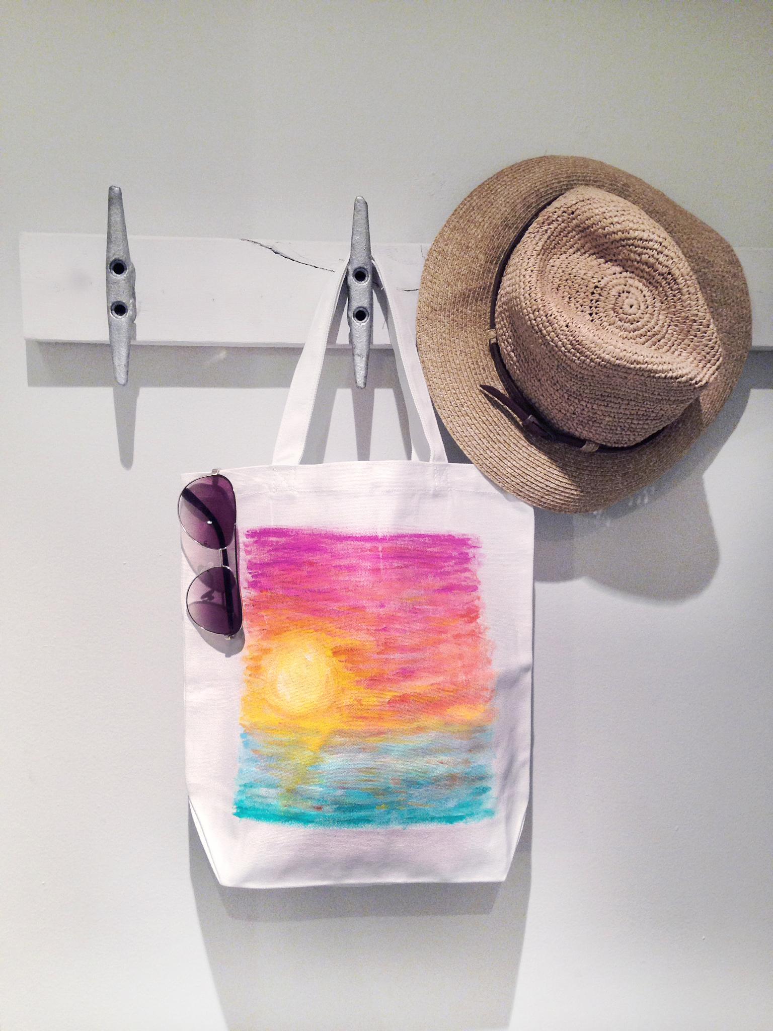 Week 4 Tropical Sunset Tote Bag Kristen Laczi