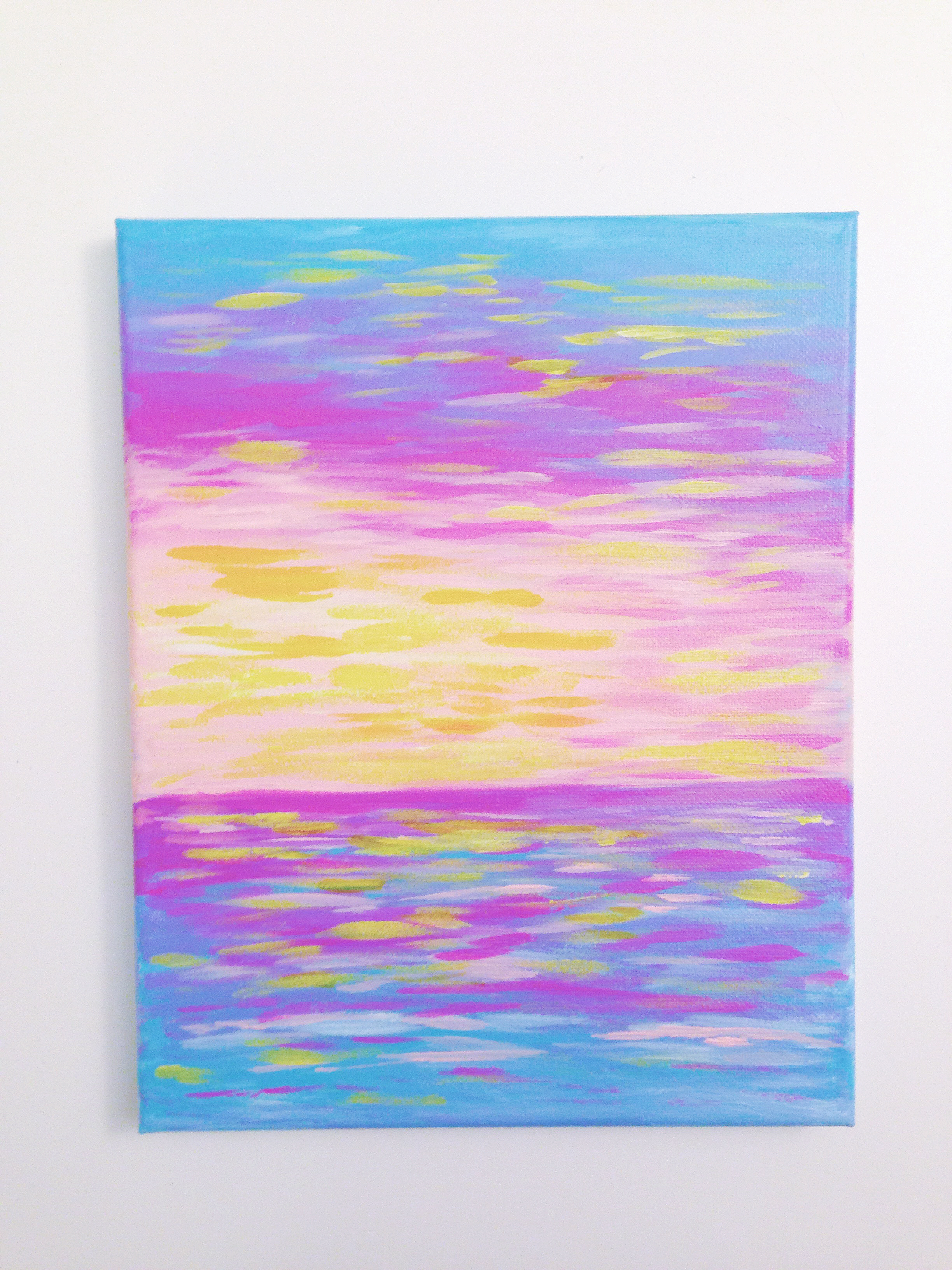 Spring Sunset | Acrylic Painting by Hello Monday Design