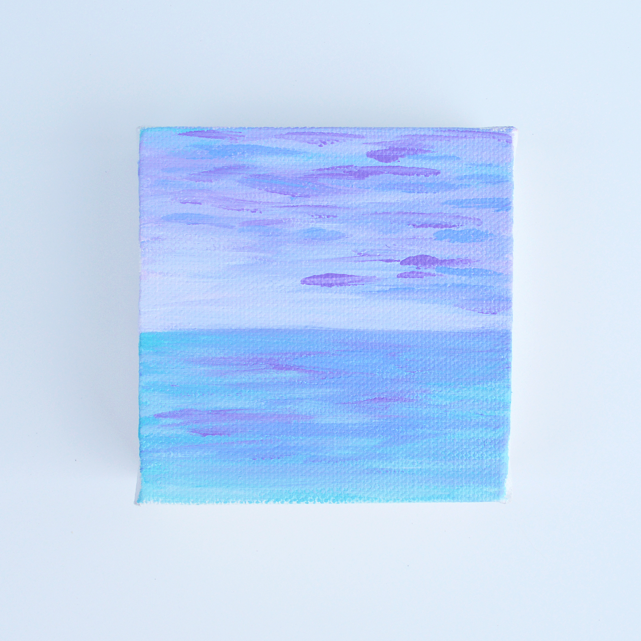 Lilac Seascape | Original Acrylic Painting by Hello Monday Design