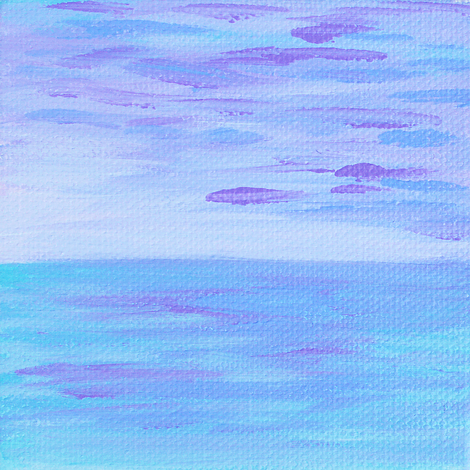 Lilac Seascape | Original Acrylic Painting by Hello Monday Design | Cropped