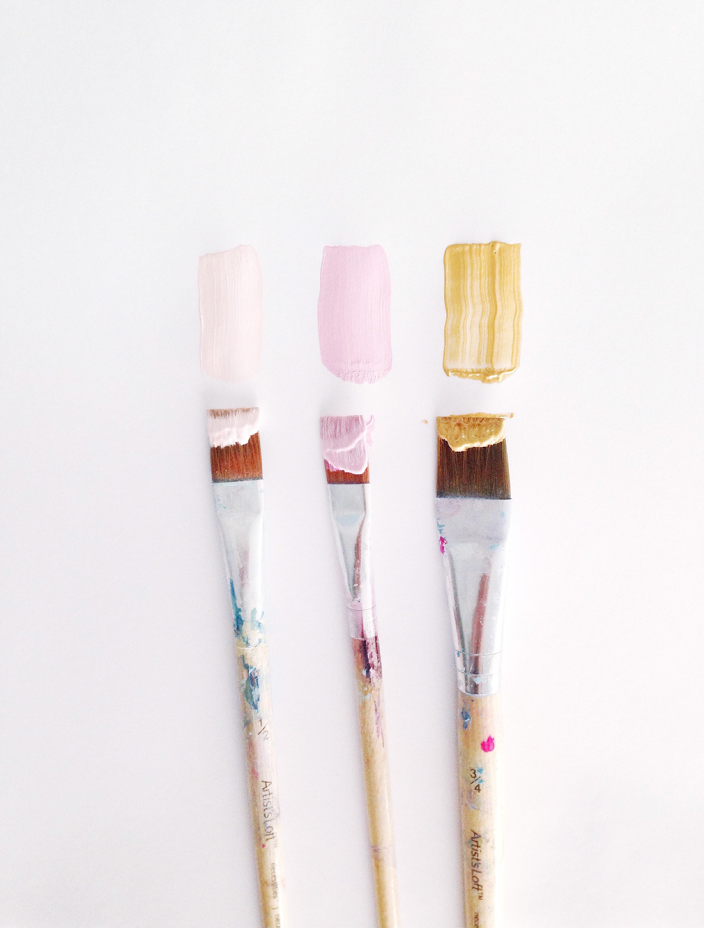 Kristen Laczi Golden Hour Color Pallet Paintbrushes