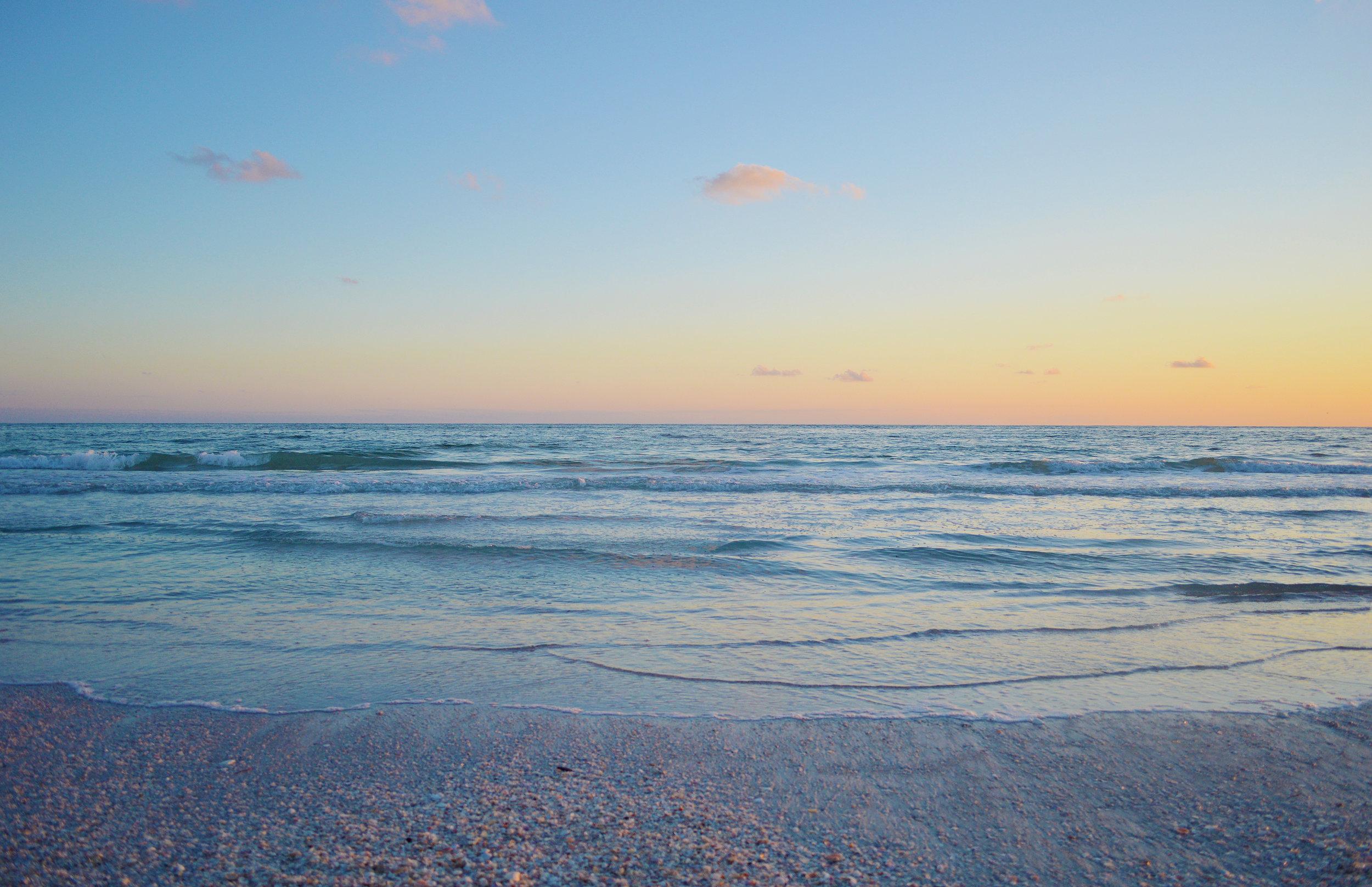 Lido Key Sarasota Florida Sunset Beach Photo by Kristen Laczi