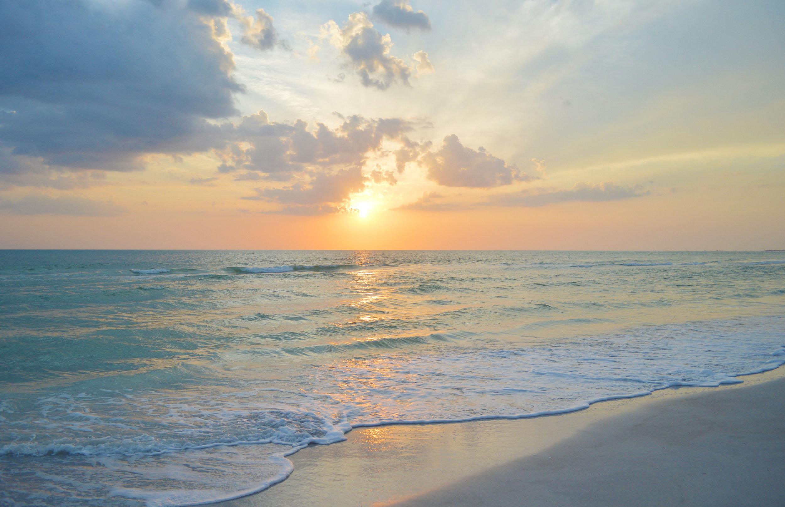 Lido Key Sarasota Florida Sunset Beach Photo by Kristen Laczu