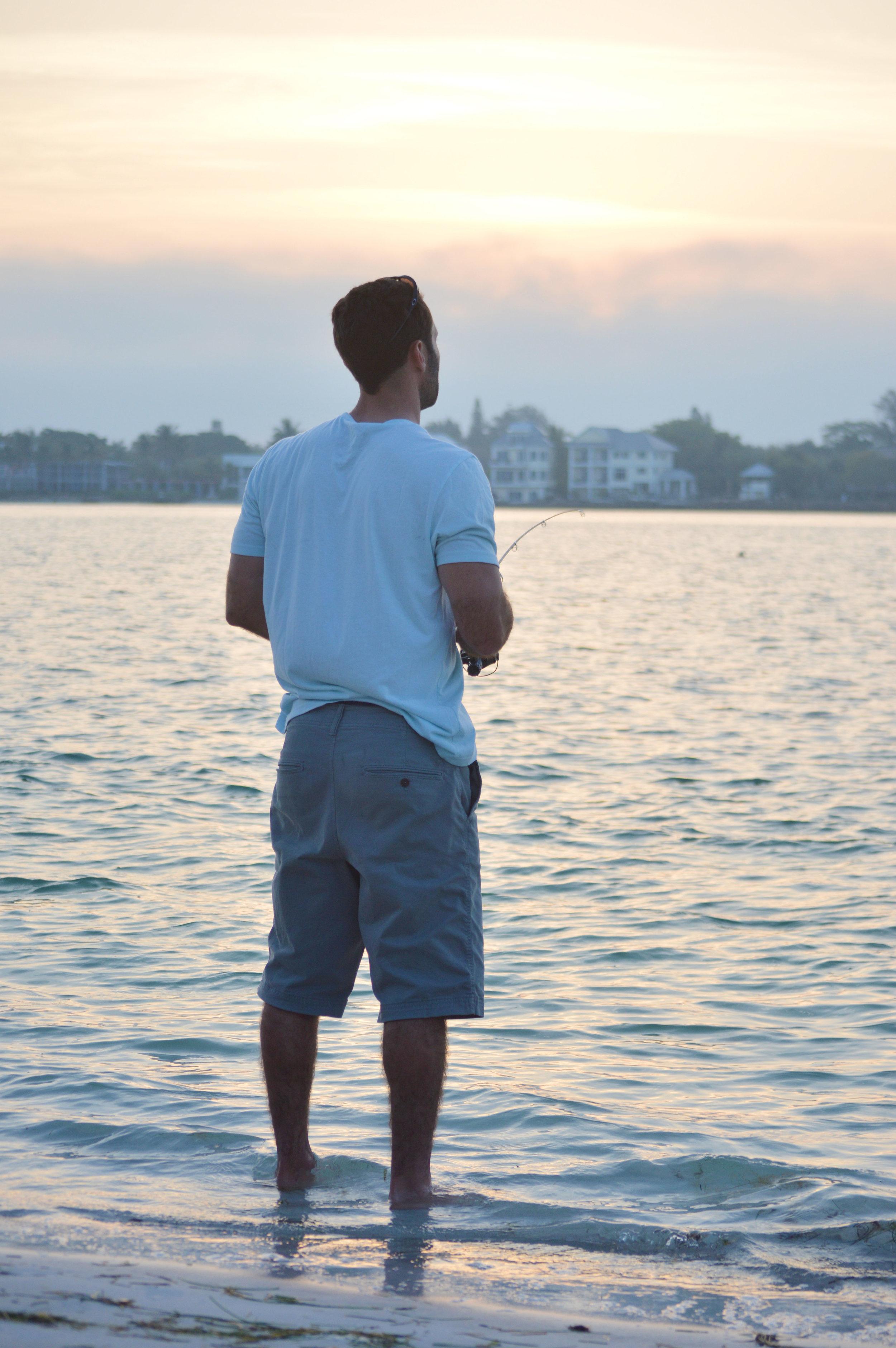 Evan Fishing Lido Key Sarasota Florida photo by Kristen Laczi