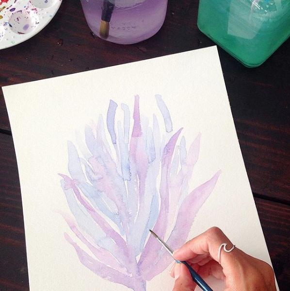 Kristen Laczi Work In Progress Mermaid Vibes Seaweed Painting
