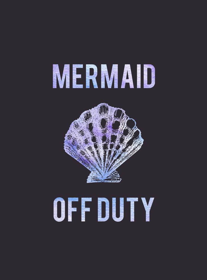 Kristen Laczi Mermaid Off Duty Art Print