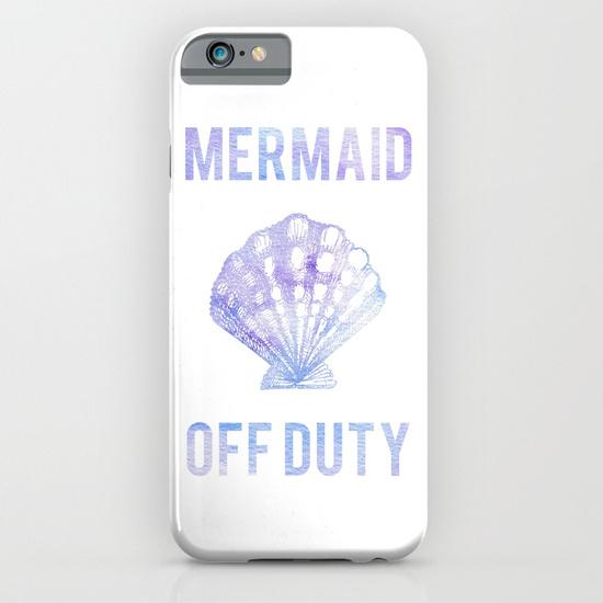 Kristen Laczi Mermaid Off Duty Phone Case White