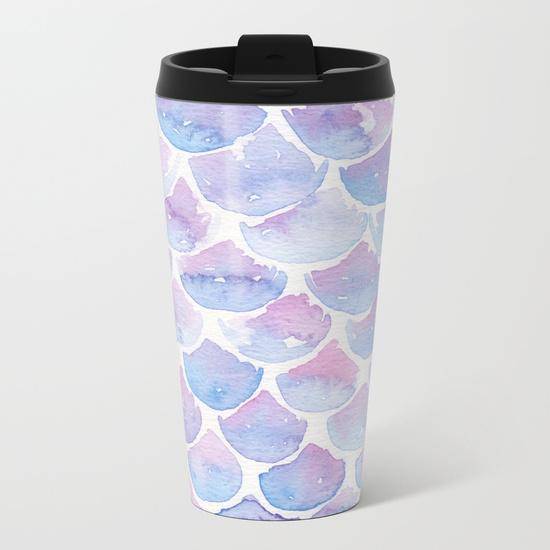 Kristen Laczi Mermaid Scales Travel Mug