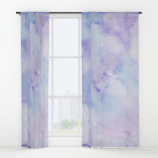 Kristen Laczi Purple Blue Ombre Window Curtains