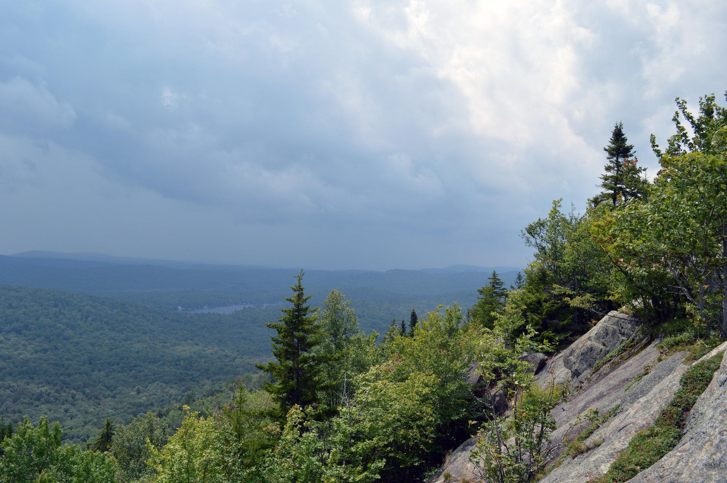 Black Bear Mountain Eagle Bay Storm Rolling In Adirondacks