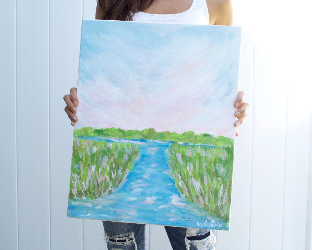 Kristen Laczi Indian Summer Original Long Island Painting