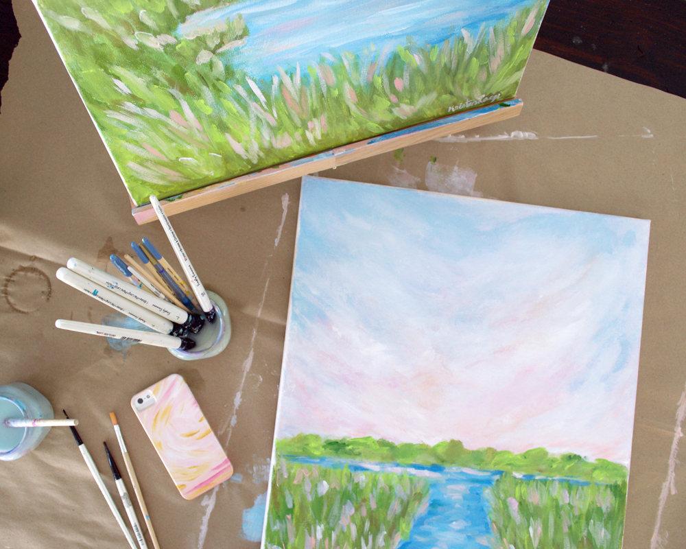 Indian Summer Kristen Laczi Original Long Island Painting