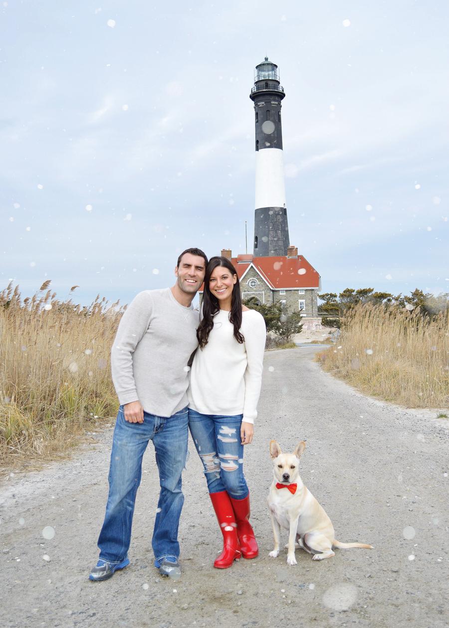 Kristen Laczi Christmas Card Fire Island Long Island New York