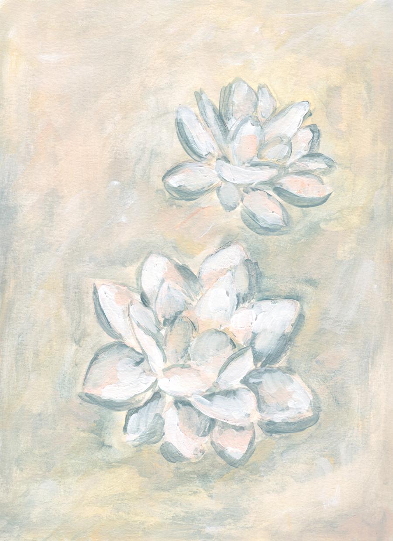 Lotus Painting by Kristen Laczi