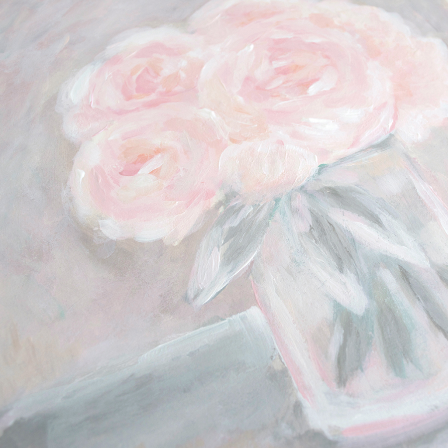 Pink Peonies Acrylic Painting by Kristen Laczi | 30 Paintings in 30 Days