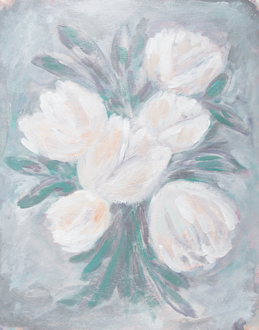Floral Painting by Kristen Laczi | 30 Paintings in 30 Days