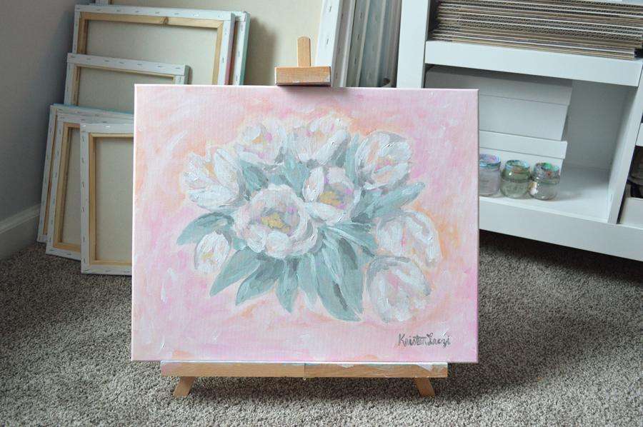 Tulip Painting by Kristen Laczi
