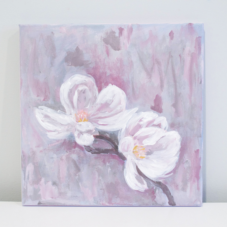 Magnolia Painting by Kristen Laczi