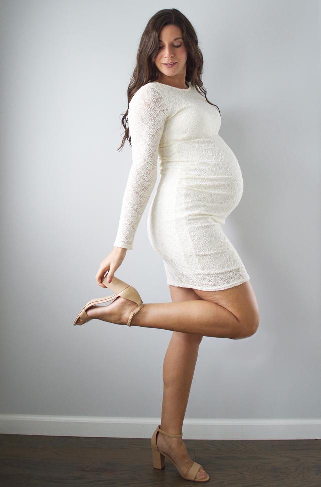 Kristen Laczi Pink Blush Maternity Baby Shower Dress