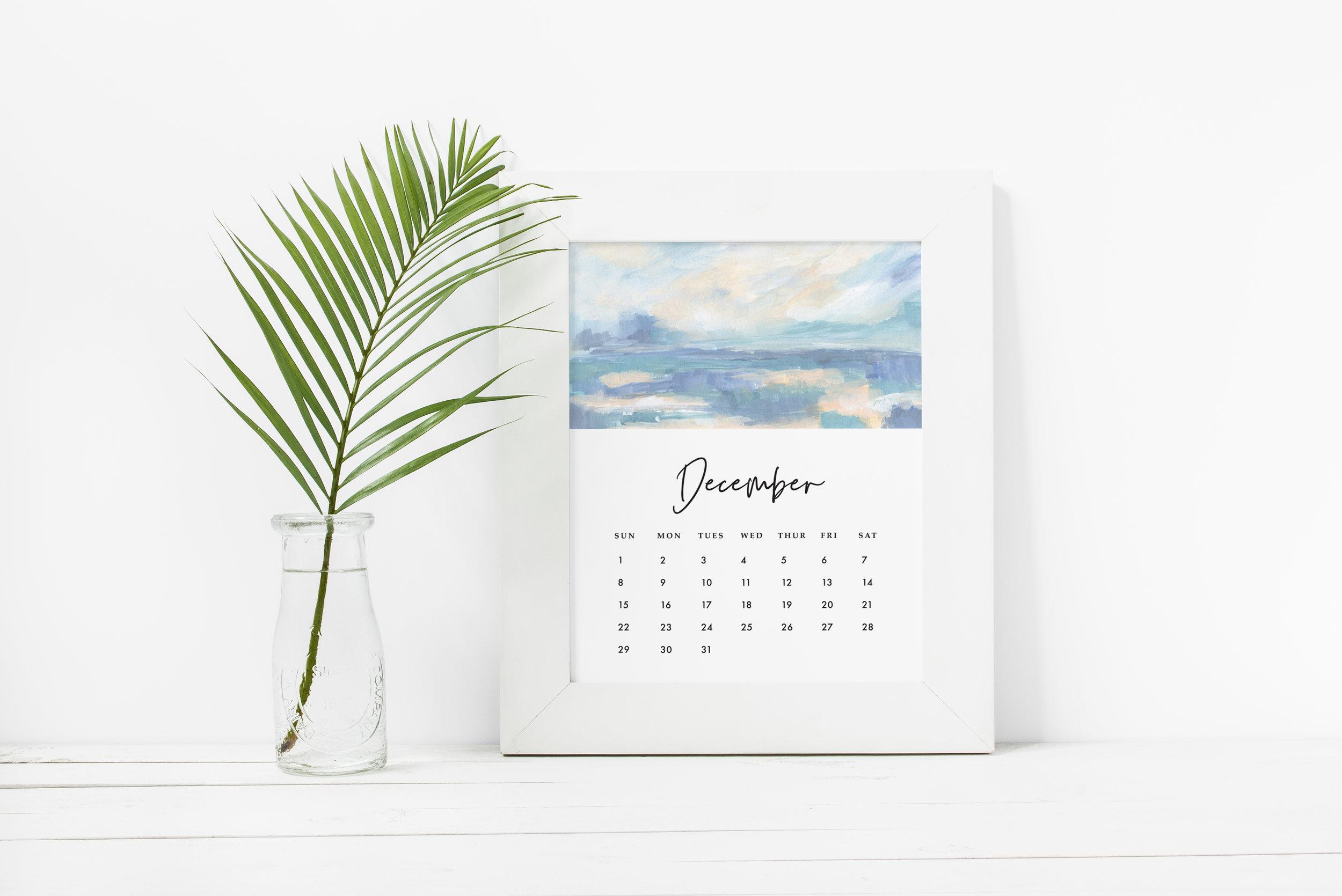 2019 Seascape Calendar by Kristen Laczi Framed