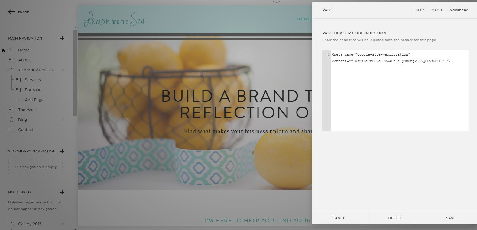 How to Customize Squarespace to Fit Your Brand   Lemon and the Sea: My favorite CSS tricks to customize your Squarespace template and give you more control over the design of your website. If you have a little coding knowledge and a Squarespace website, you can make some small changes that have a big impact. Make your website stand out with Custom CSS!
