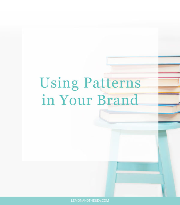 Using Patterns in Your Brand | Lemon and the Sea: How you can use custom patterns in your brand design and my winter pattern collection