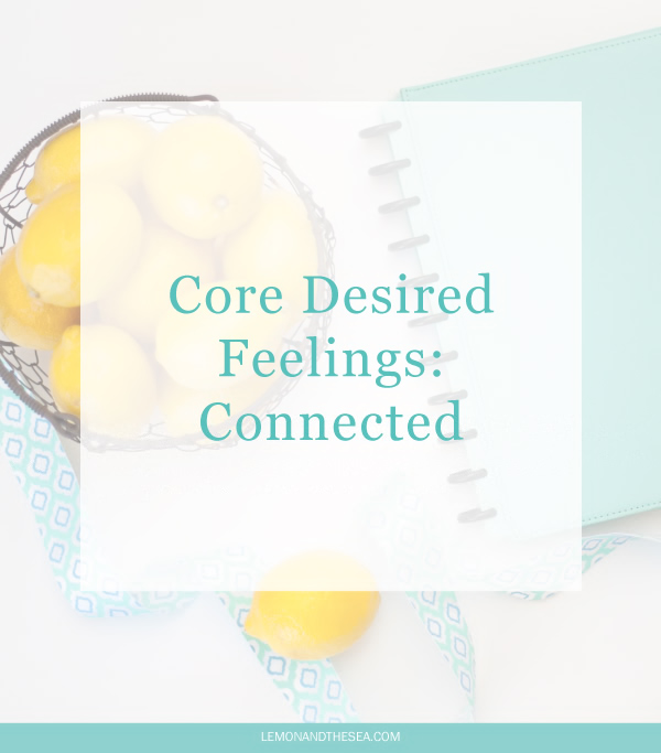 Core Desired Feelings: Connected | Lemon and the Sea: How I'm pursuing connection and intentionally making choices in my life.