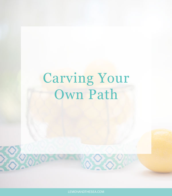 Carving Your Own Path | Lemon and the Sea: Don't be afraid to think outside industry standards when creating your business. Your processes, point of view, and offering don't have to fit into what everyone else is doing.
