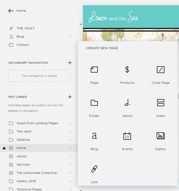 Lemon And The Sea How To Use Index Pages On Your Squarespace Site