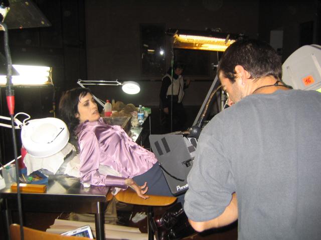 Coralina Cataldi-Tassoni on set of MOTHER OF TEARS