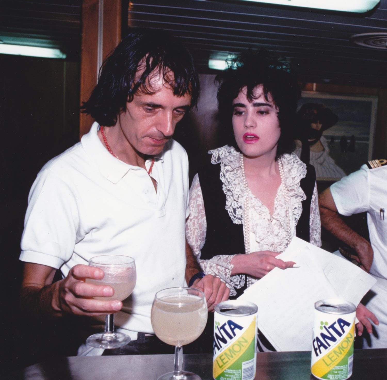Coralina Cataldi-Tassoni  with Dario Argento for GIALLO in Dubai