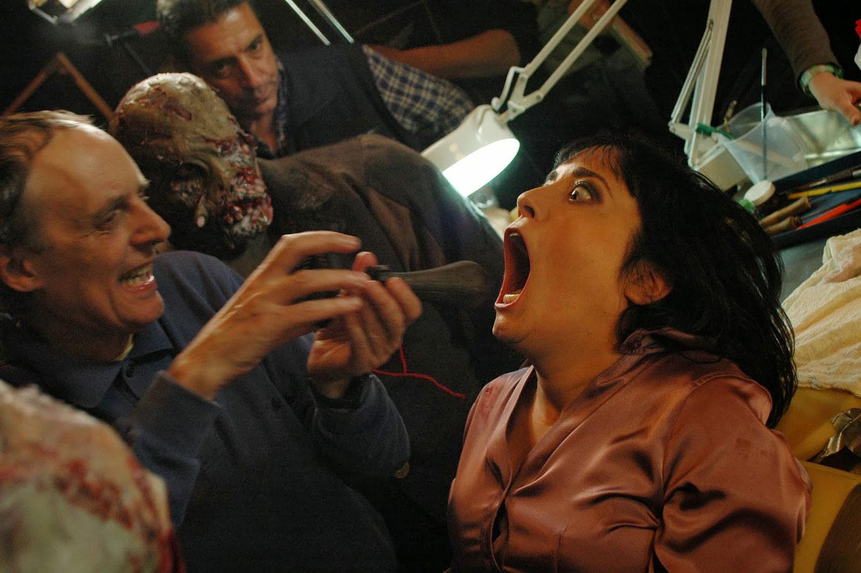 Coralina Cataldi-Tassoni  with Dario Argento on set of MOTHER OF TEARS