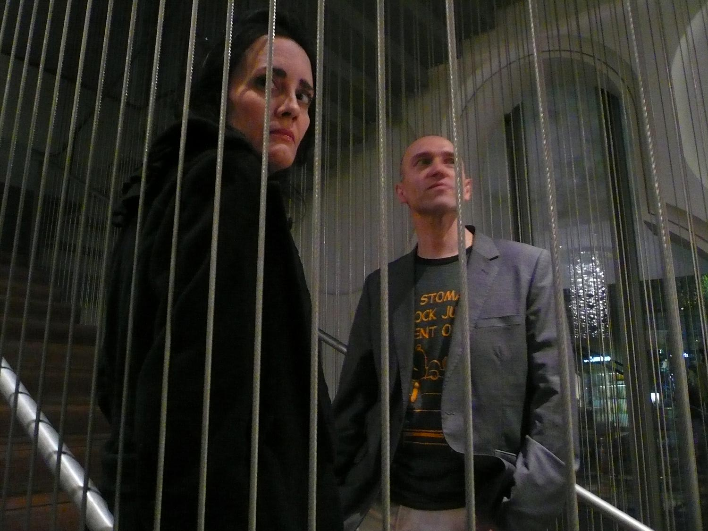Coralina & film director Mariano Baino at the Museum of Arts & Design, NYC  photo J.Ball