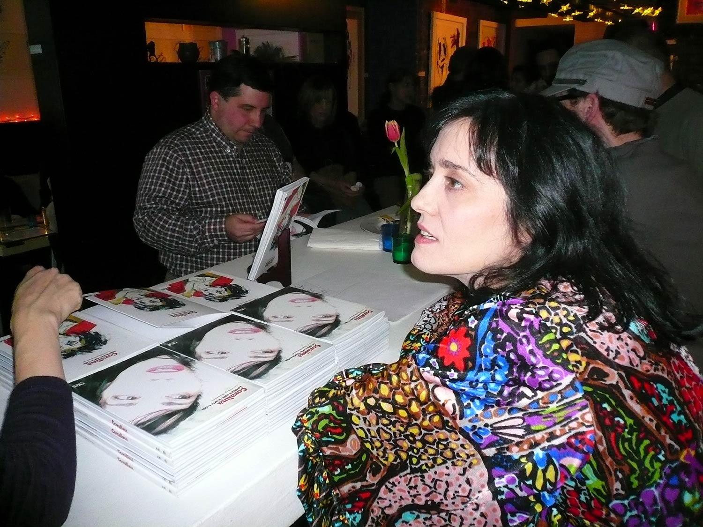 Coralina Cataldi-Tassoni during book signing NYC.jpg