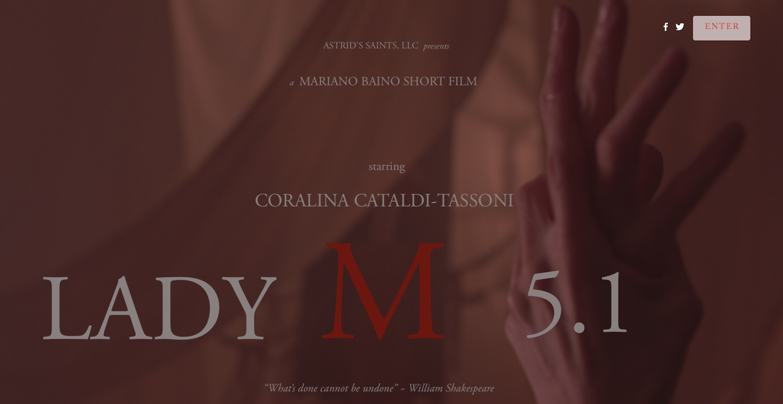LADY M 5.1 Website Enter Page