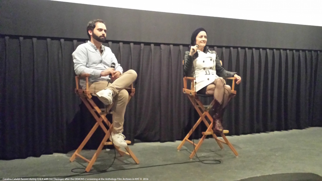 Coralina Cataldi-Tassoni and Jon Dieringer Q&A Demons 2 Anthology Film Archives Oct. 29th 2016 0.jpg