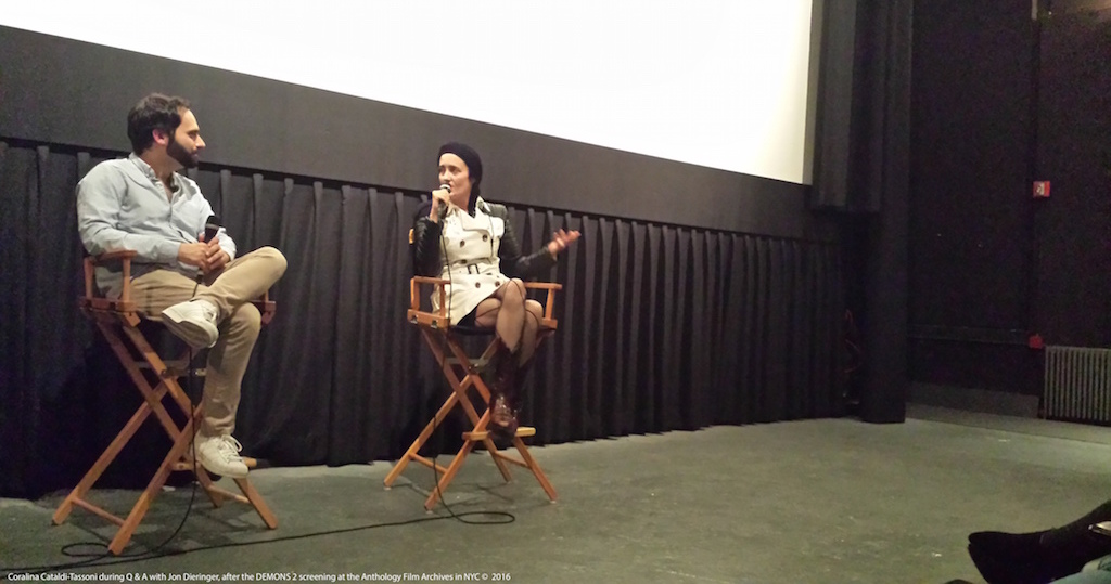 Coralina Cataldi-Tassoni and Jon Dieringer Q&A Demons 2 Anthology Film Archives Oct. 29th 2016 1.jpg