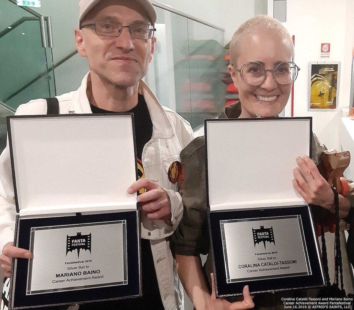 Coralina Cataldi-Tassoni and Mariano Baino Career Achivement Awards Fantafestival 2019 2019-09-18 at 4.44.32 PM.jpg