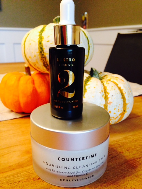 Countertime Nourishing Cleansing Balm and Lustro Face Oil