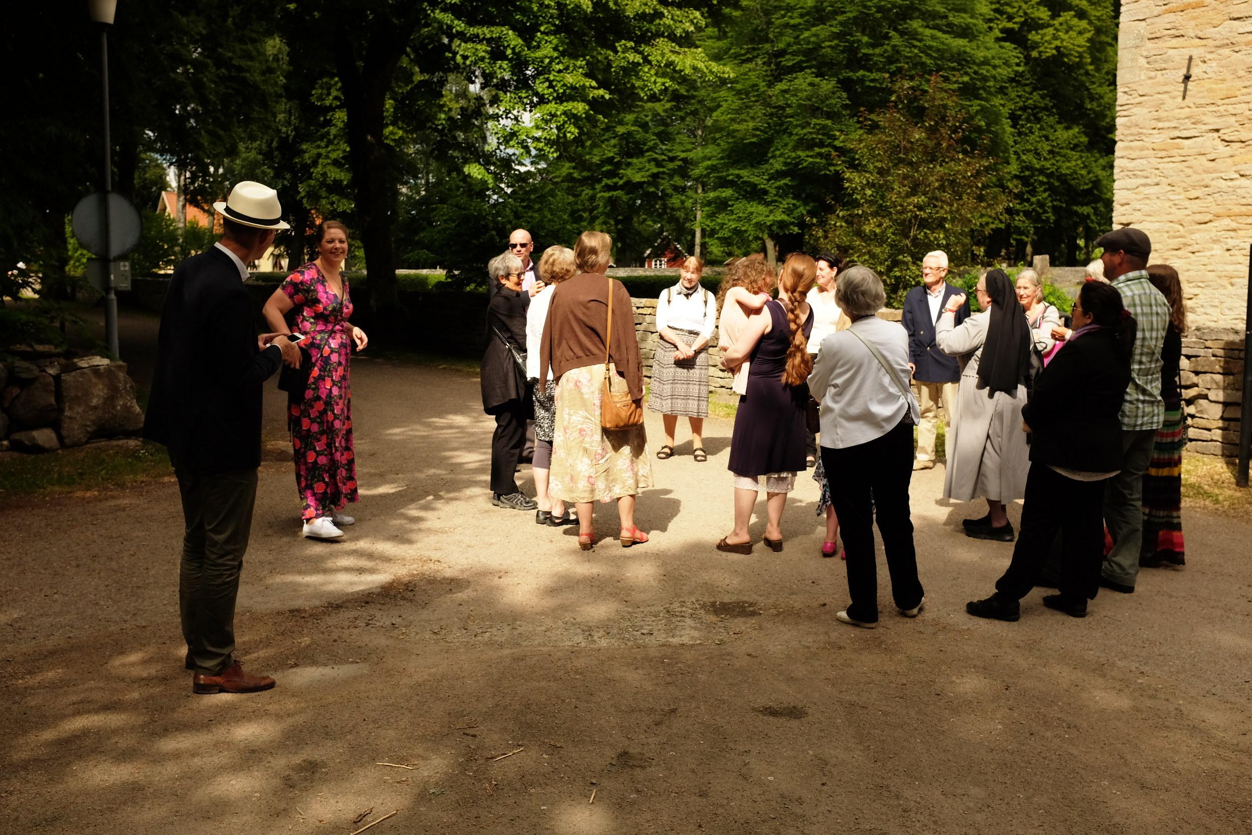 Kyrkokörens sommarutflykt till bl.a. Varnhems klosterkyrka
