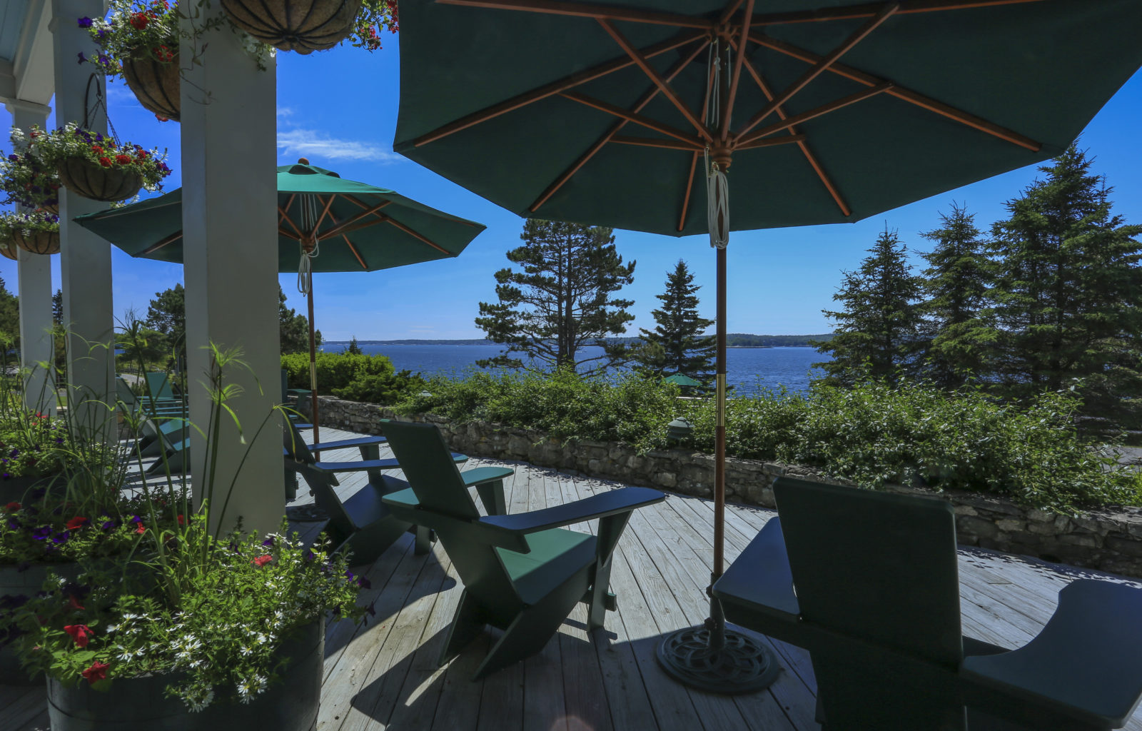 Oceanside Porch at the Spruce Point Inn