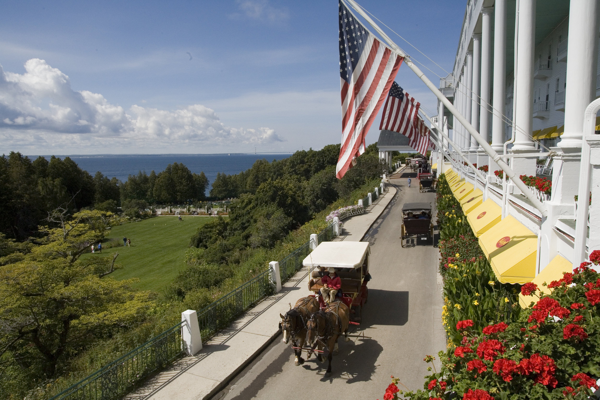 Horse Carriages at the Grand Hotel