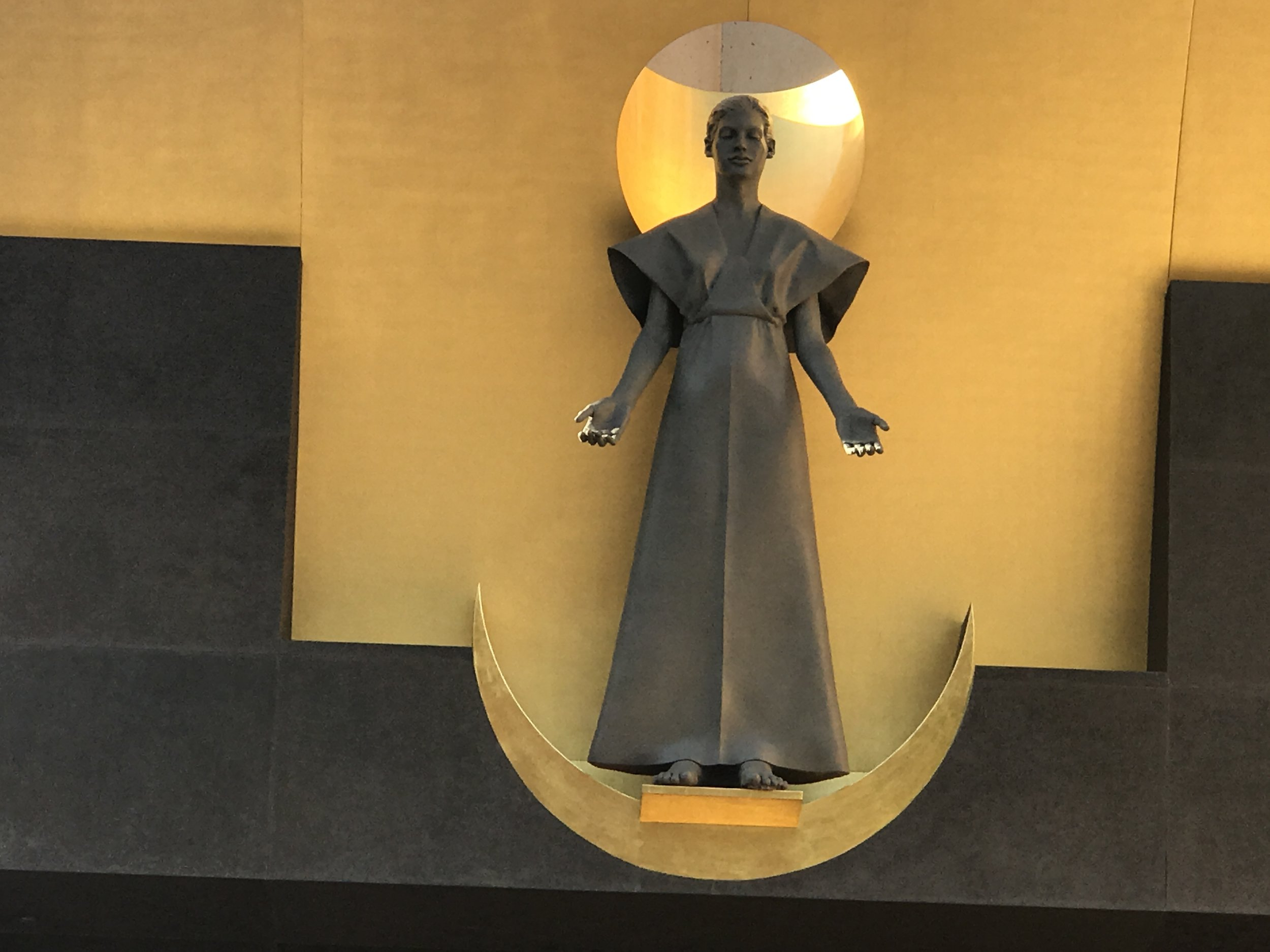 Statue of Virgin Mother at Entrance of Cathedral