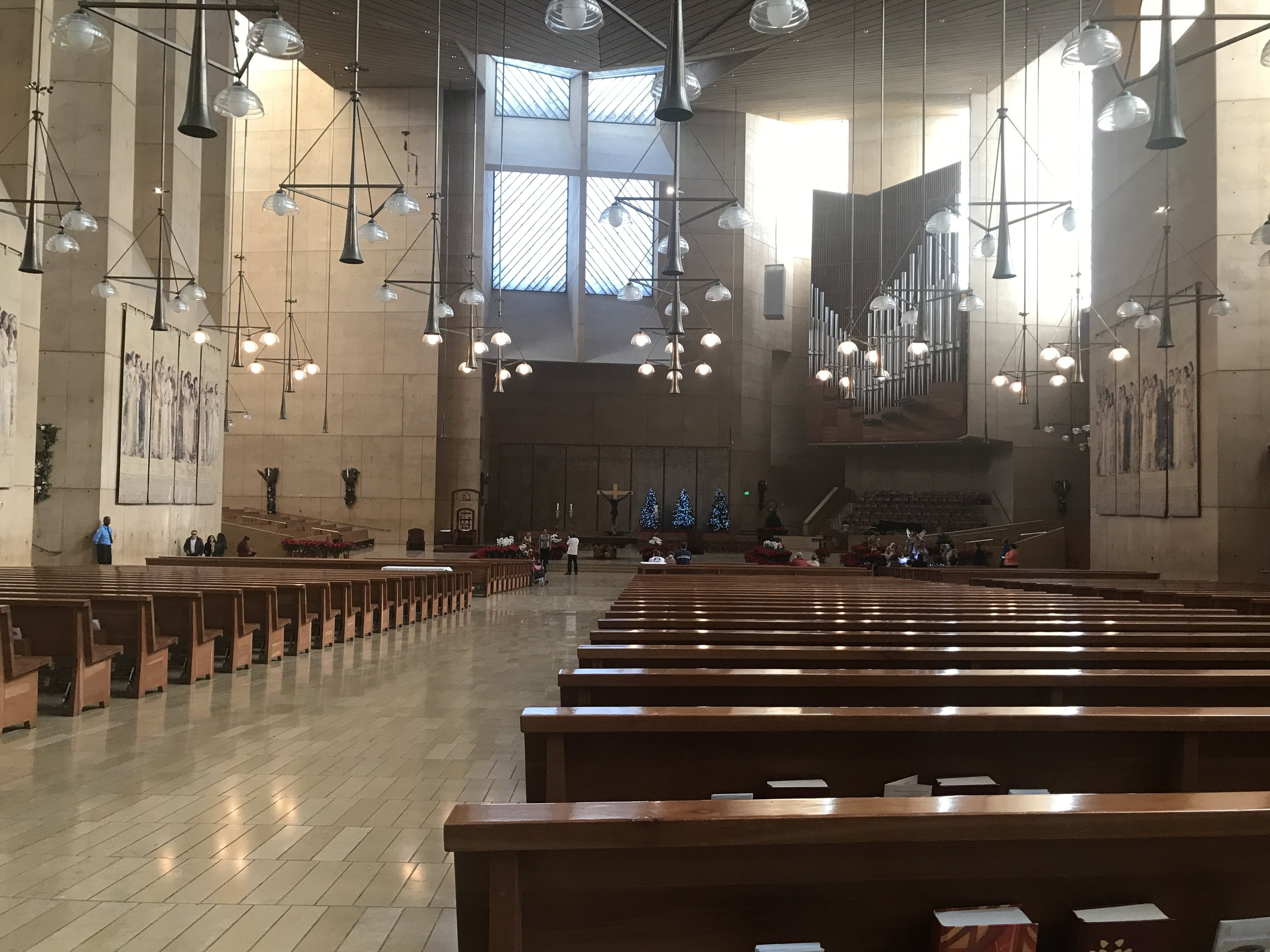Interior of Cathedral of Our Lady of the Angels